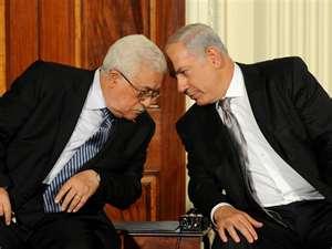 Mahmud Abbas and Benjamin Netanjahu