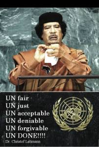 Ghadafi larger than life.