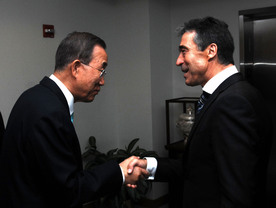 Rasmussen and Ban Ki Moon