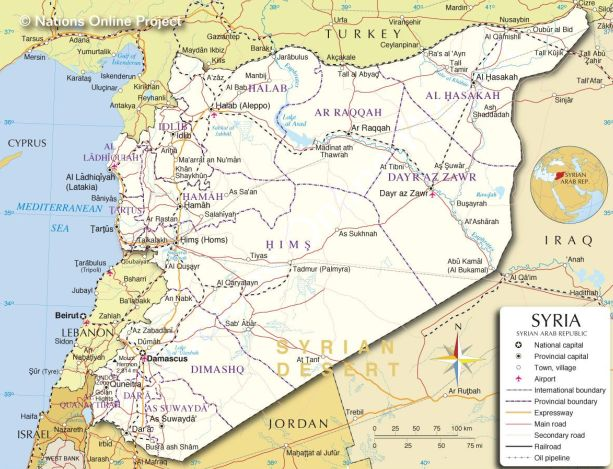 Syria Republics - Map