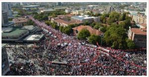 Turkey; Millions Protested Against Balkanization of Turkey and Syria War.