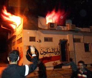 FJP Egypt ablaze