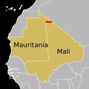 Mauritania - Mali Map