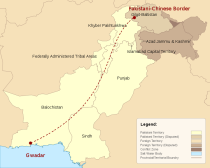 Why Baluchistan? Gwadar in the southwest serves as a Chinese port and the starting point for a logistical corridor through Pakistan and into Chinese territory. The Iranian-Pakistani-Indian pipeline would enter from the west, cross through Baluchistan intersecting China's proposed logistical route to the northern border, and continue on to India. Destabilizing Baluchistan would effectively derail the geopolitical aspirations of four nations.