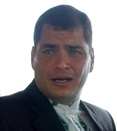 Correa dedicated his victory to Hugo Chavez